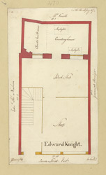 [6 Plan of property in Queen Street occupied by Edward Knight, dated June 1768]